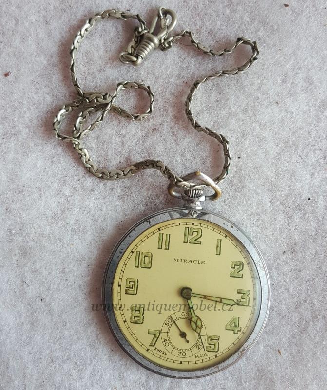 Kapesní hodinky Miracle Starožitnosti Antik Praha Mikšík · Kapesní hodinky  Miracle 348f4a53f37